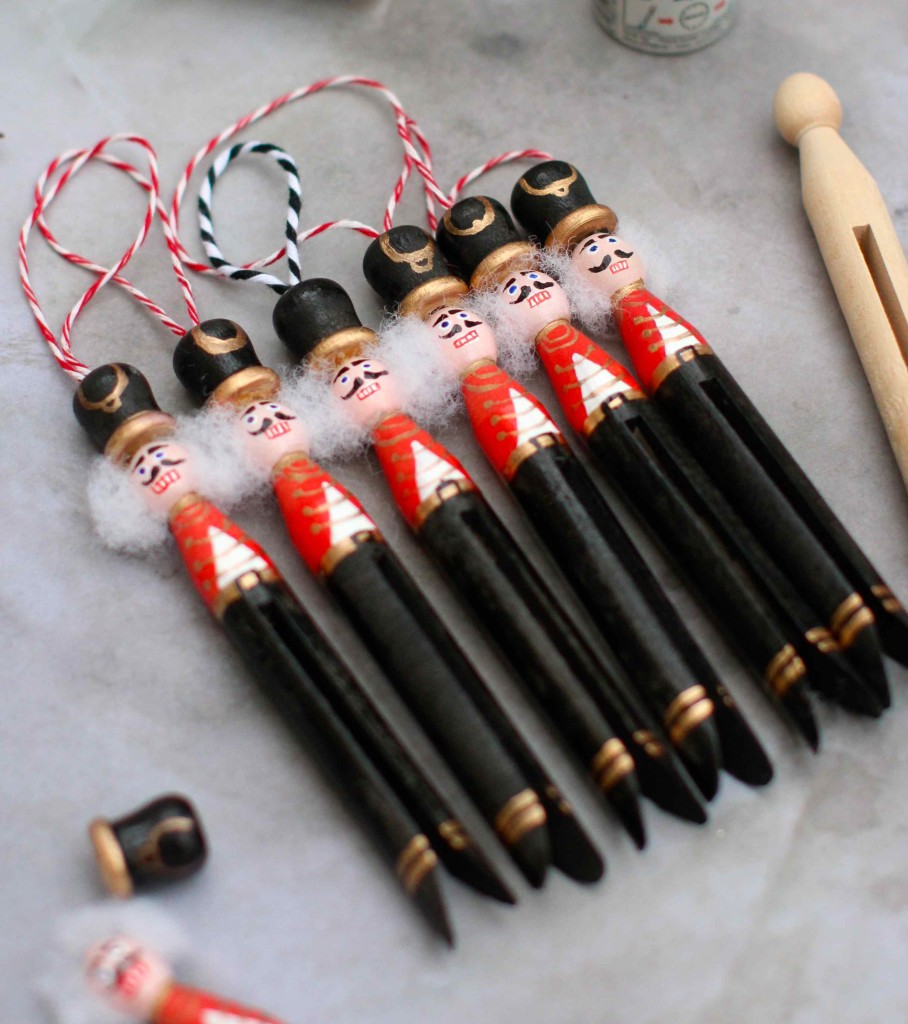 Wooden Peg Christmas Decorations