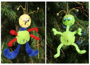 Sand Dollar Alien Christmas Ornament