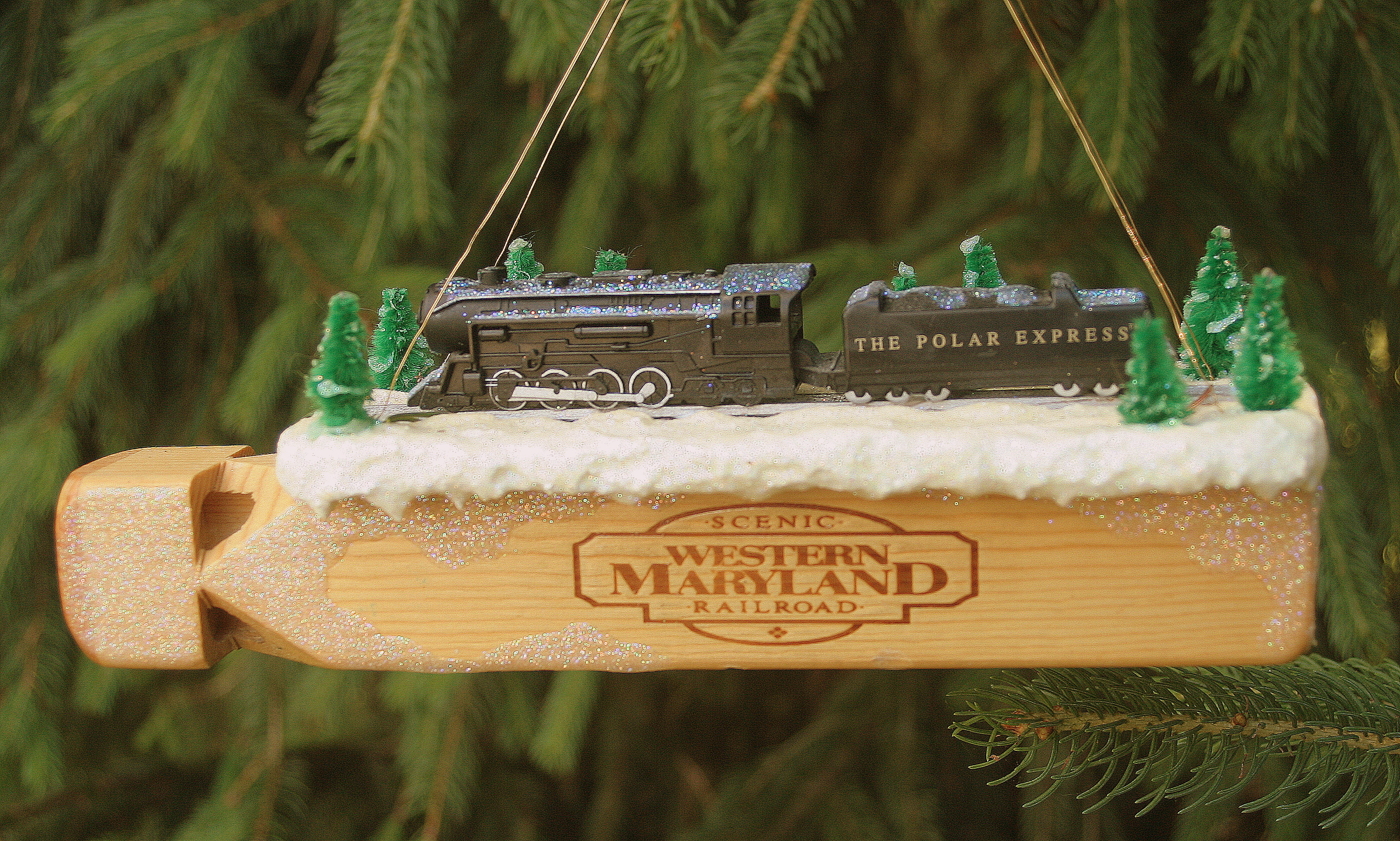 Superb Polar Express Train Whistle Christmas Ornament Homemade Funny Birthday Cards Online Fluifree Goldxyz