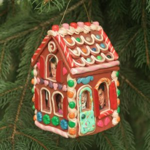 Polymer clay Christmas ornament; photo;