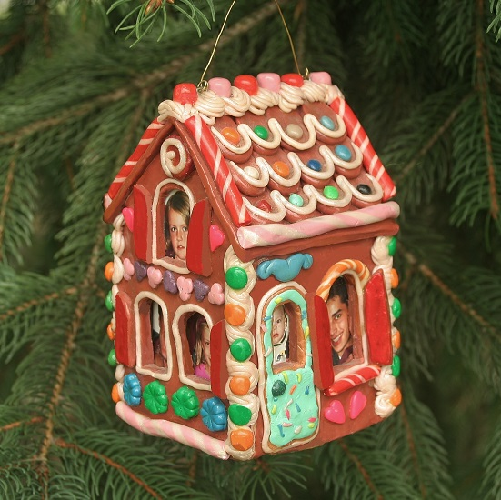 Gingerbread House Family Photo Ornament