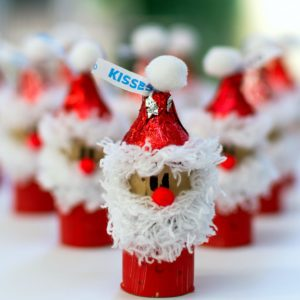Hershey Kiss-mas Santa wine cork ornament