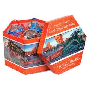 "Lionel Train ""Post-War"" Christmas ornament set"