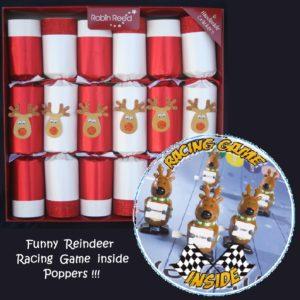 Santa's Racing Reindeer Christmas Crackers