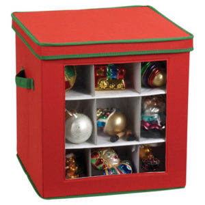 27 Piece Holiday Ornament storage chest