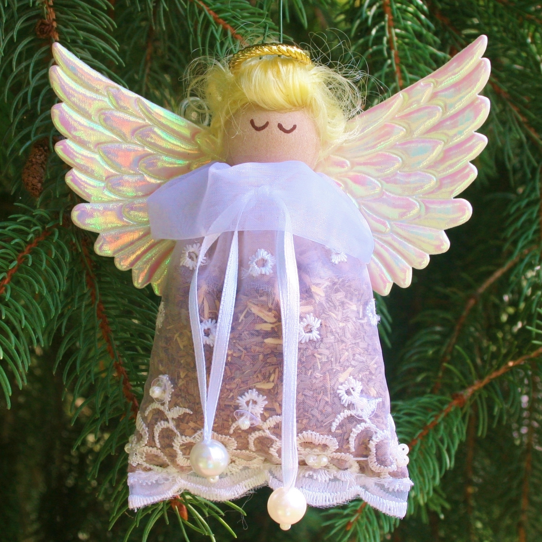 balsam fir sachet angel christmas ornament