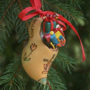 Dutch wooden shoe Christmas ornament