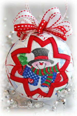 Snow Globe Quilted Christmas ornament