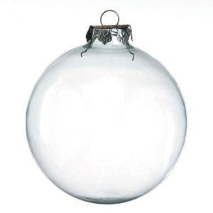 Clear BALL 100mm glass ornament