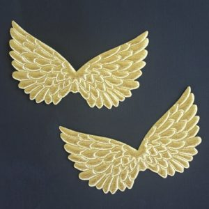 Angel Wings 4.75″ embossed GOLD