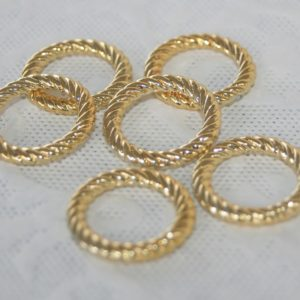 Angel Halo 23mm gold rings