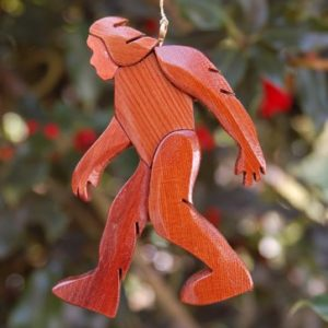 Trekking home for Christmas Bigfoot ornament