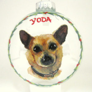 Pet Christmas ornaments hand painted