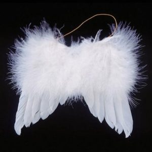 Angel Wings 5″ white feather