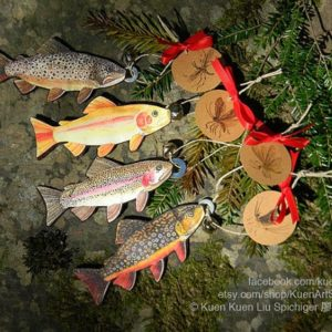 Fishing you Merry Christmas!  Trout Good-Luck ornament