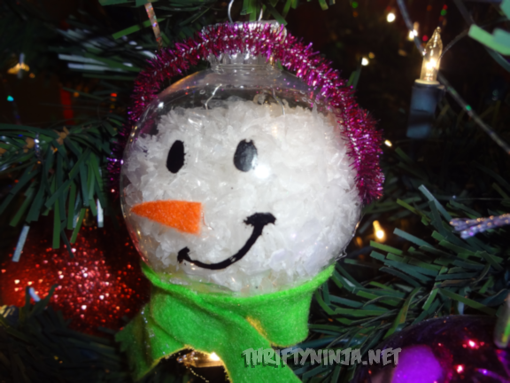 snowman ornament homemade christmas ornaments