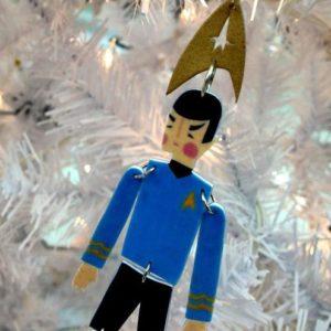 """""""Quite Fascinating"""" STAR TREK Spock Christmas ornament"""
