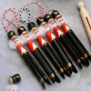 Nutcracker Clothespin Christmas ornament