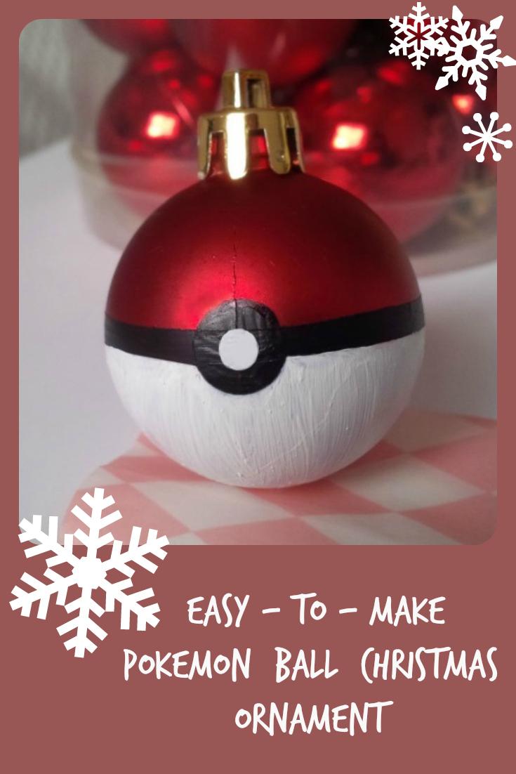 Pokémon Ball Christmas ornaments.  Easy to make Christmas ornaments and much more fun to find in your Christmas tree!