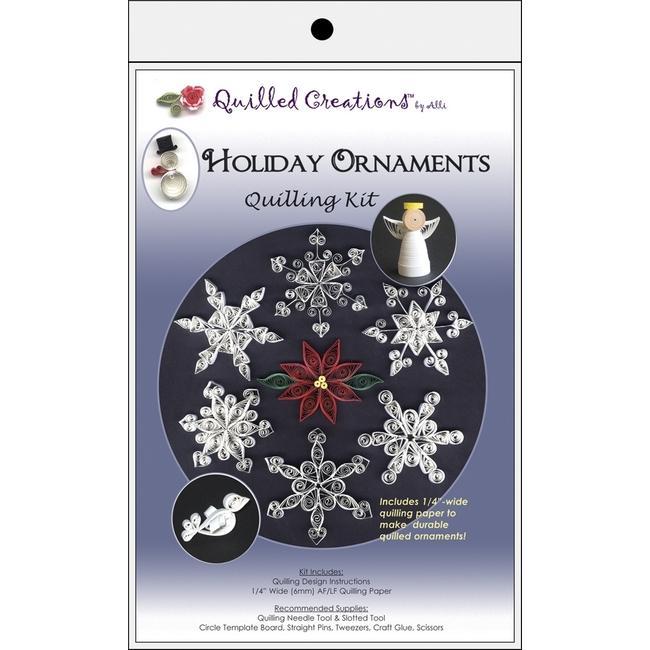 Snowflake Quilling Christmas Ornament Kit Homemade Christmas