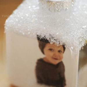 Photo Cube Christmas ornament