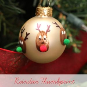 Reindeer Thumbprint Christmas ornament