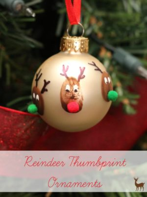 Reindeer Thumbprint Christmas ornament