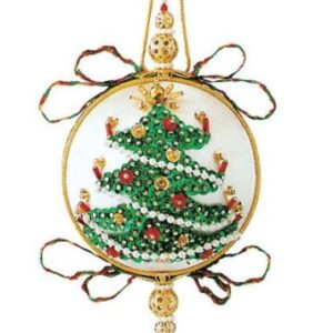tannanbaum with mini popcorn garland and candles - Christmas Decoration Kits
