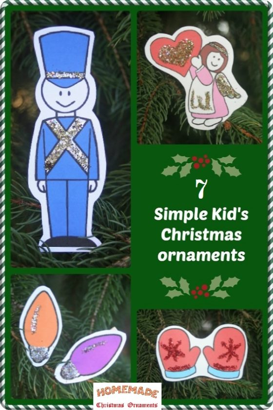 Glitter, Clothespins & Kids!  7 VERY EASY Christmas ornaments to make