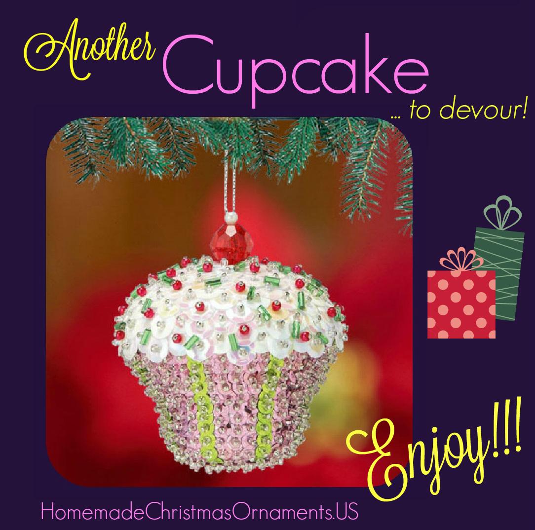 Sequin Cupcake ornament kit ⋆ Homemade Christmas Ornaments