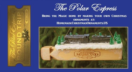 DIY Polar Express Train Christmas Ornament