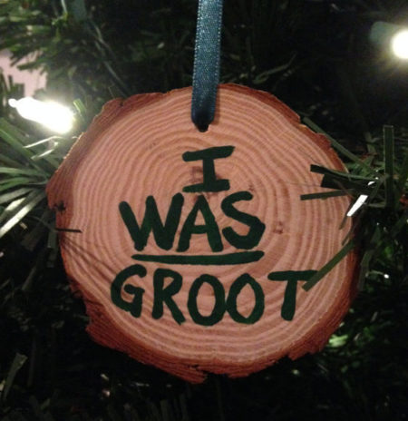 """Guardians of the Galaxy movie: """"I was GROOT"""" Christmas ornament"""