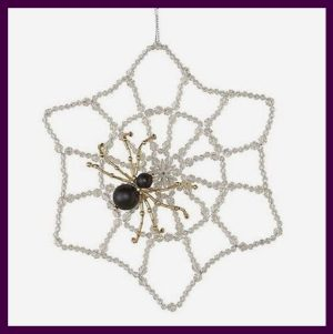 "Beaded Spider ornament kit: ""Welcome to my WEB"""