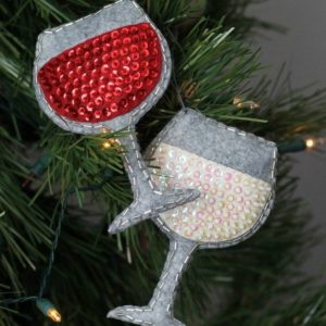 Lavish Wine Goblet Christmas ornament
