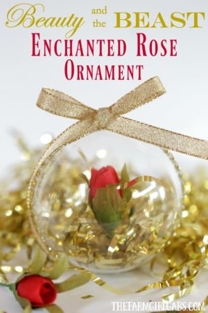 Beauty and the Beast Enchanted Rose Ornament