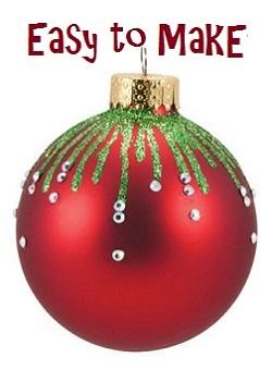 Easy to make christmas ornaments homemade christmas for Easy to make christmas decorations