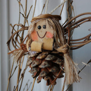 Pinecone Angel Christmas ornament
