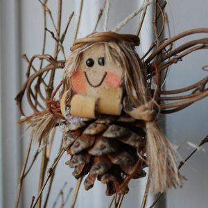 Pinecone Angel Christmas ornament