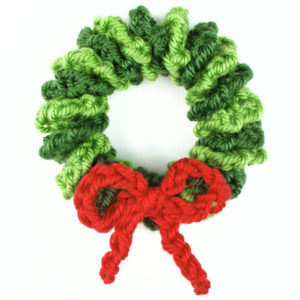 Crochet Wreath Christmas Ornament