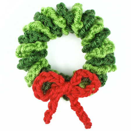 Crochet Wreath Christmas Ornament Homemade Christmas Ornaments