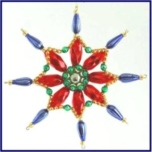 Czech beaded Christmas ornament KITS
