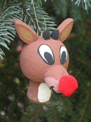 wine cork craft; christmas craft; reindeer ornament;